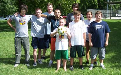 Soccer at Karpov chess camp