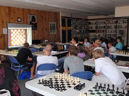 Chess Class at chess camp in Lindsborg, Kansas