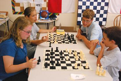 Kids at chess camp in Lindsborg
