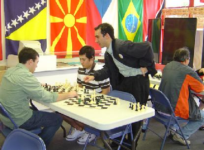 Chessplayers drop by the Anatoly Karpov Chess School to Play Chess during Hyllningsfest