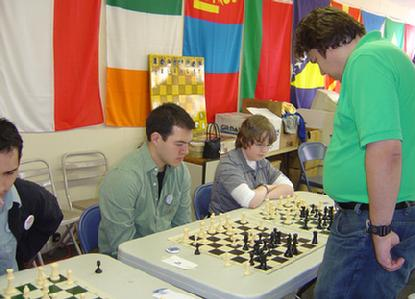 Tom Brownscombe, Karpov Chess School Director Plays a Simul During Hyllingsfest